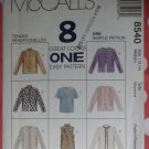 Jacket & Top McCalls 8540 Pattern, Size Med 12 14 Bust 36 UNCUT