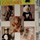 Toddlers Skunk Lion Monkey Elephant Panda Costume McCall's 8938 Sewing Pattern, Size 4, Uncut