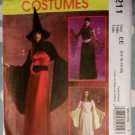 Misses Fantasy Witch Costumes McCalls M 5211 Sewing Pattern, Size 14 to 20, Uncut