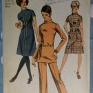 1970 Misses' Dress or Tunic and Pants Simplicity 9063 Pattern, size 14, Uncut