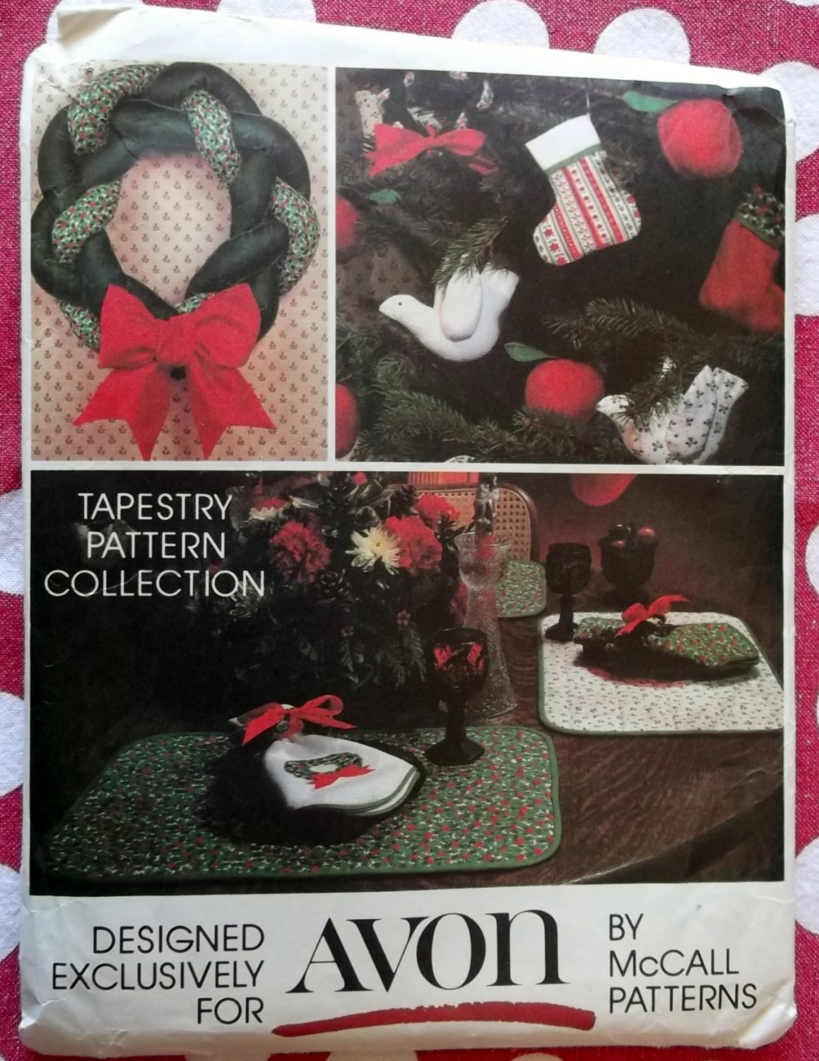 McCall's 5380 Avon Tapestry Collection for Christmas Pattern, Uncut