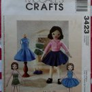 Retro Betsy McCall Doll and Clothes McCall's 3423 Pattern, UNCUT