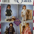 Winter wardrobe 18-inch Doll Clothes  Simplicity 8460 Pattern, Uncut