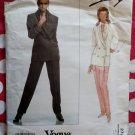 OOP Vogue 2721 Designer Genny Misses Jacket and Pants Pattern, Size 12 14 16, Uncut