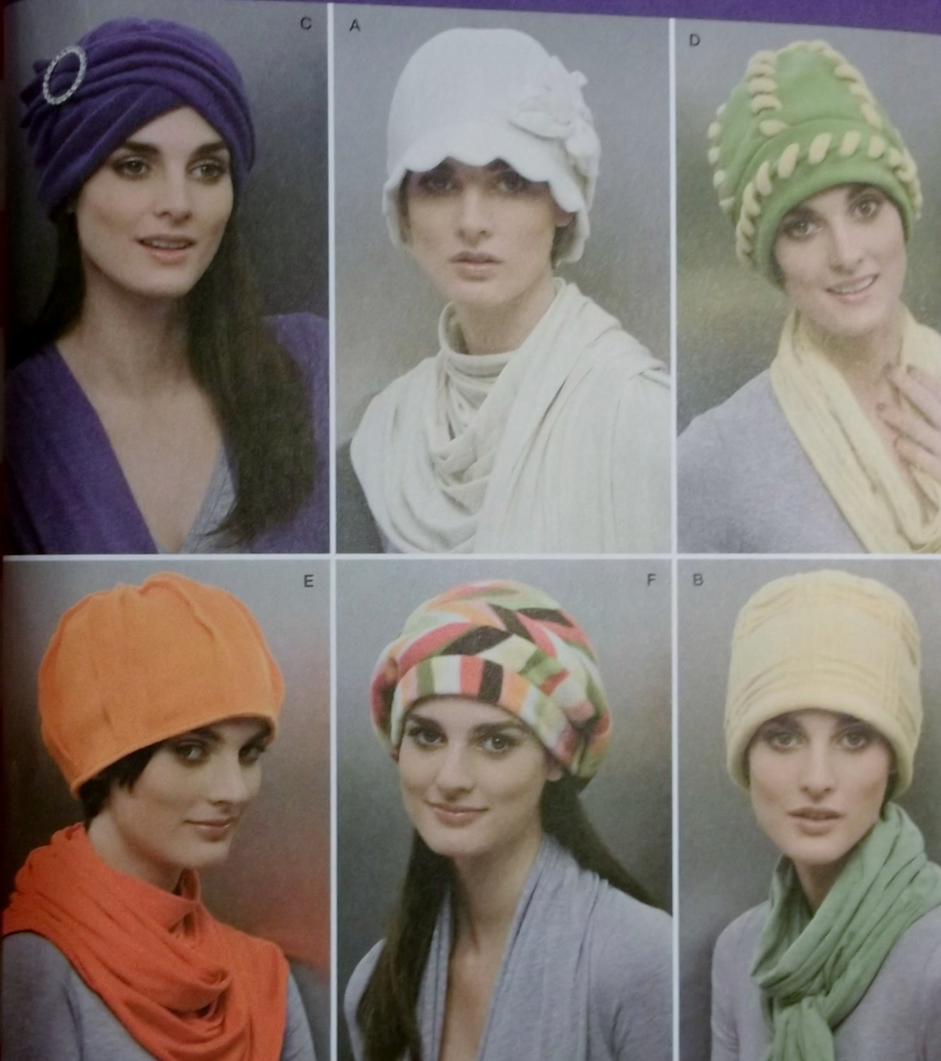 Misses Fleece Hats 6 Styles Simplicity 2494 Sewing Pattern, Uncut