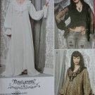 Victorian Steampunk Goth Misses Dress Blouse Simplicity 2163 Pattern, Plus Sz 14 To 22, Uncut