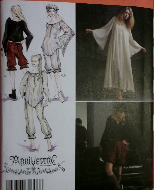 Costume Gothic Haunt Couture Simplicity 2777 Pattern, Plus Sz 14 To 22, Uncut