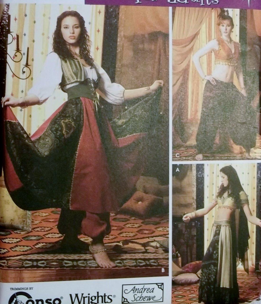 Misses Costume Belly Dancer Simplicity 5359 Pattern, Plus Sz 14 To 20, Uncut