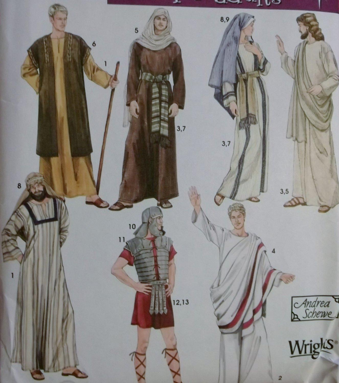 Adult Biblical Passion Play Costumes & Helmet  Simplicity 4213 Pattern, Plus Sz XS To XL, Uncut