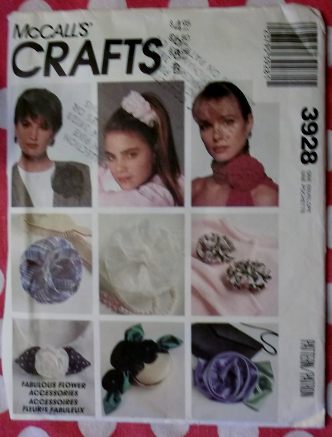 Fabulous flower accessories McCalls 3928 Sewing Pattern, Uncut