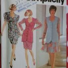 Misses or Petite Two piece Dress with Skirt Varations Simplicity 7658 Pattern, Size 12 to 16, Uncut