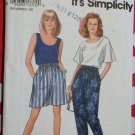 OOP Easy Misses Top, Tank Top & Pants or Shorts Simplicity 8254 Pattern, Sz 10 to 20,
