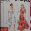 """""""It's so Easy"""" Misses Dress Simplicity 9586 Pattern, Plus Sizes 8, 10, 12, 14, 16,18 UNCUT"""