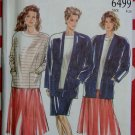 Misses Jacket Top Skirts New Look 6499 Pattern, Size 8 to 20, Uncut