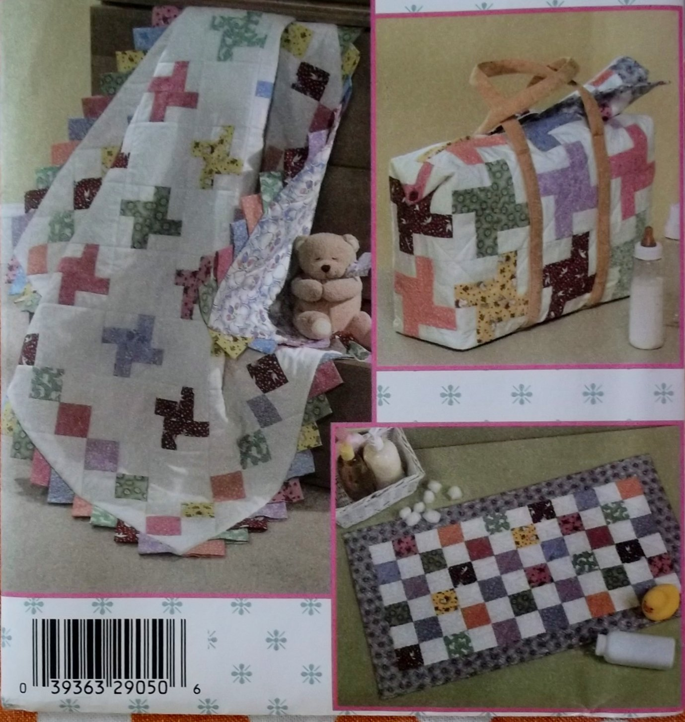 Simplicity 4663 Crafts Quilt In A Day Diaper Bag, Baby Changing Pad and Quilt