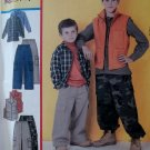 Boys Shirt, Vest, Pull on Pants McCall's 3416 Pattern,  Sz 7 to 18, UNCUT