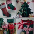 OOP Christmas Fat Quarter Tree, Stockings and more McCall's M4693 Pattern, UNCUT