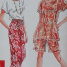 It's So Easy, Misses Pants or Shorts and Top Simplicity 9605 Pattern, Sz XS to XL, Uncut