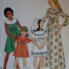 Vintage 70s Dress in Two Lengths Simplicity 8434 Pattern, Size 10 Breast 28 1/2 Uncut