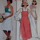 Easy Vintage 1970s Dress or Jumper Simplicity 8346 Pattern, Size 12 Uncut