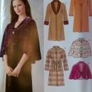 OOP Misses' Coats and Lined Capelets, New Look 6645 Pattern, Sz XS to XL, UNCUT