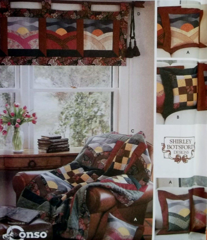 Simplicity Quilt Block Club Home Decor Pattern 9852 Sunrise Sunset & Sunshine & Shadows, UNCUT