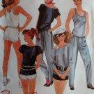 Vintage Brooke Misses' Top, T-Shirt, Pants, & Shorts Mccalls 9092 Sewing Pattern, sz 10 12, UNCUT