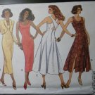 OOP Easy Waist Jacket and Skinny or Flare Skirt Dress Butterick 6840 Pattern, Size 6 8 10 12, UNCUT
