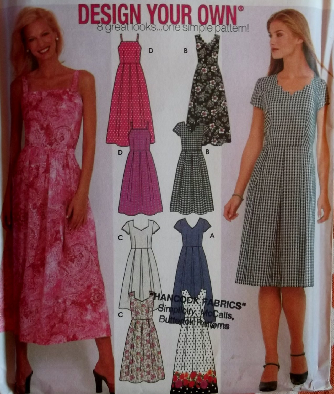 Make Your Own Dress Design: Misses Design Your Own Dress In 2 Lengths Pattern