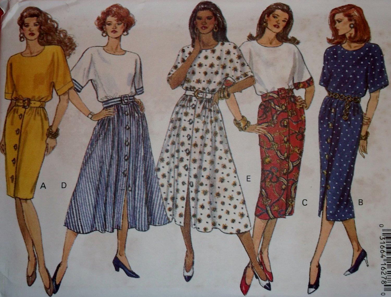 Easy Classics Misses/Misses Petite Dress Butterick 6785 Pattern, Size 12 14 16, Uncut