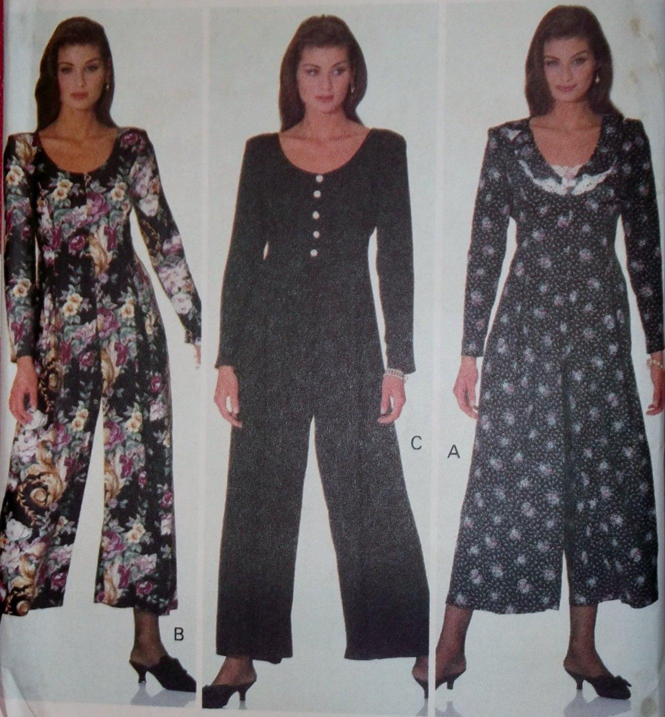 Easy Misses Jumpsuit Butterick 6441 Pattern, Size 12 14 16, Uncut