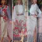 Misses or Petite JG Hook Button Skirt Vest Shirt Blouse Butterick 6793 Pattern, Size 6 8 10, Uncut