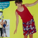 Easy Unisex Teens Pants in 2 lengths or shorts & tank Top Simplicity 0688 Pattern, Sz S to XL, UNCUT