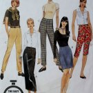 Easy McCall's 8576 Pattern Unlined Jacket, Top & Straight or Flared Skirt Sz 12 14 16, Uncut