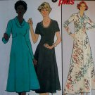 Vintage Simplicity 8253 Easy Womans Dress, Half size 18 1/2 to 20 1/2, Uncut