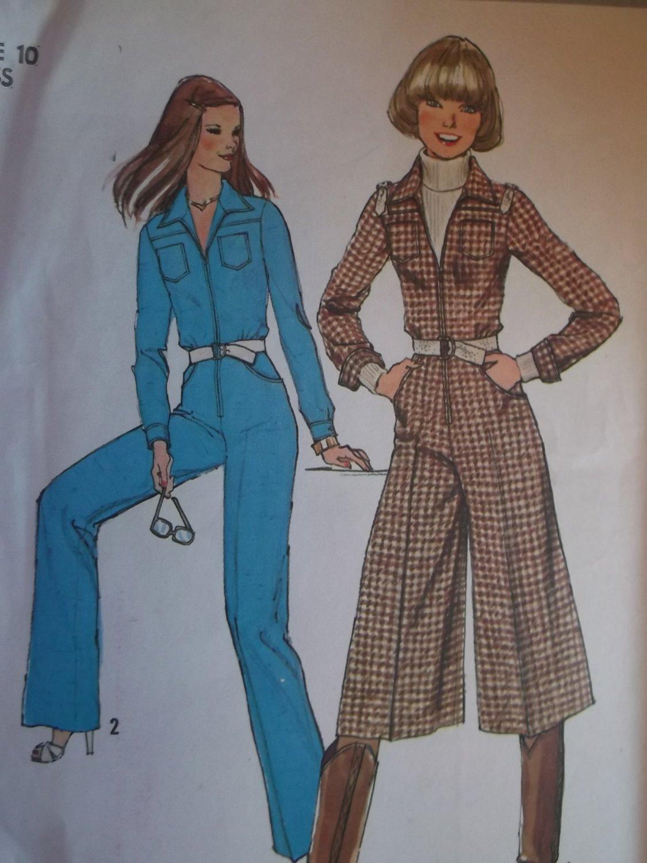 OOP Simplicity 8153 Pattern, Misses' Jumpsuit & Culotte Jumpsuit, Size 10, UNCUT