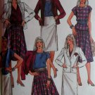 80s Misses' Liz Claiborne Jacket, Top and Skirts Simplicity 9016 Pattern, Size 12, Uncut
