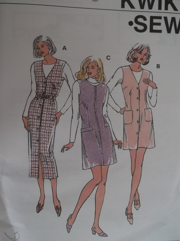 Misses Dresss KWIK Sew pattern 2490,  XS, S, M, L, XL, Unopened