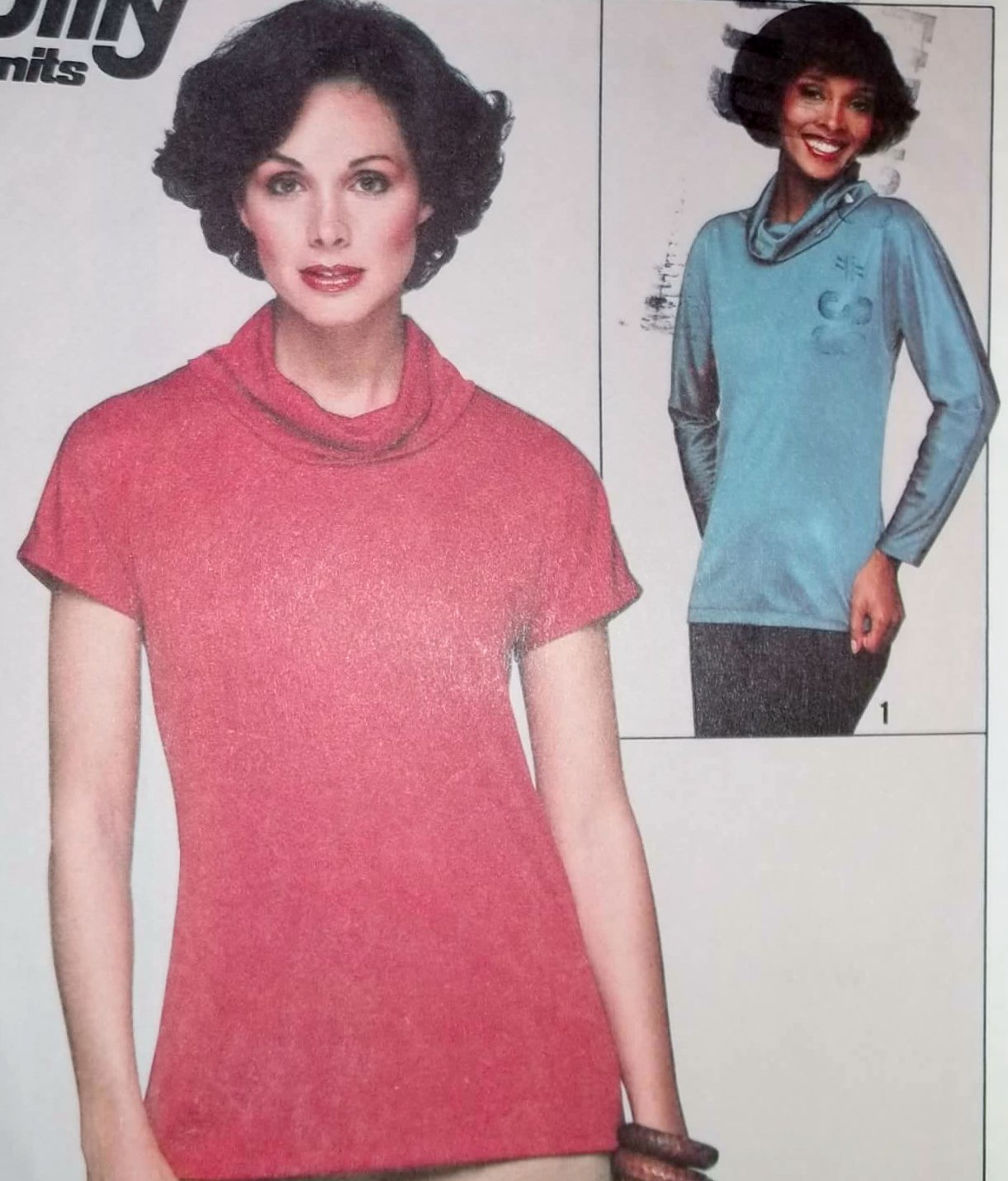 Misses' Jiffy Knit Pullover Top Simplicity 8239 Pattern, Sizes 14 16, Uncut
