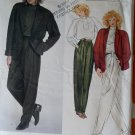 Vintage Paris Original Claude Montana  Jacket, Top & Pants Vogue 2853 Pattern, Size 10 Uncut