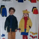 Butterick 5714 Sewing Pattern Girls Boys Jacket Skirt Pants Hat Scarf, size 6 7 8, Uncut