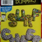 Easy Simplicity 4928 Sewing for Dummies Alphabet Pillows Patterns, Size 12 inches, Uncut
