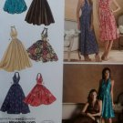 Ladies Halter Dresses. in 5 styles Simplicity 3823 Pattern, Plus Sz 14 To 22, Uncut