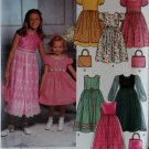 Simplicity 9497 Girls Dress and Purse Pattern, Size 3 4 5 6, Uncut
