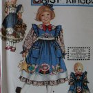 Simplicity 9435 Daisy Kingdom Dress, Pinafore and Doll Dress Pattern Size 3 4 5 6, Uncut