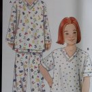 Simplicity 9882 Easy Childrens Pajamas, Sleepwear Pattern, Size 3 4 5 6 7 8, Uncut