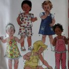 Simplicity 9642 Baby tops, sundress, jumper, pants, shorts & hat Pattern, Sz XXS-XS-S-M-L,  7-24 Lbs