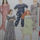 Simplicity 7574 Misses'  Nightgown and PJs in 2 lengths Pattern, Size 6-24 UNCUT