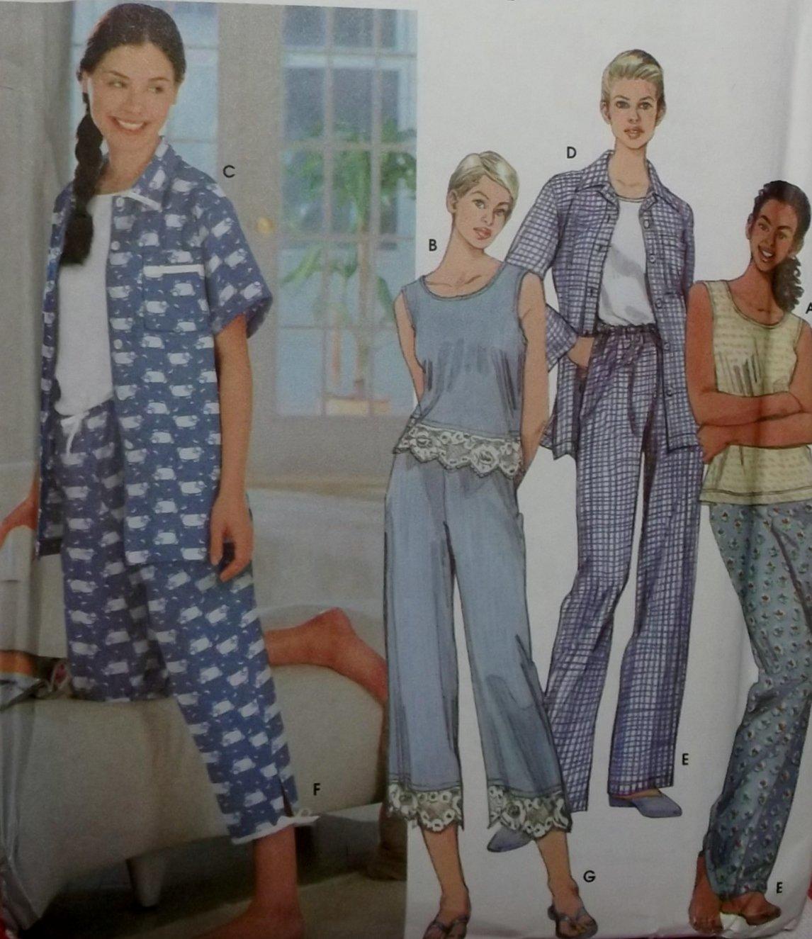 OOP Simplicity 9329 Misses Sleepwear Pajamas, Sz 6 to 16, Uncut