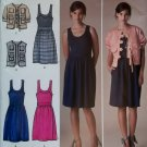 Cynthia Rowley Design Misses' Dress & Jacket or Vest Simplicity 2443 Pattern, Sz 6 to 14, UNCUT